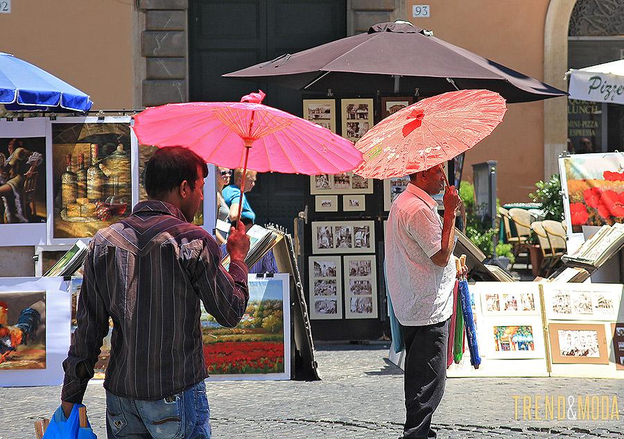 Vendita di ombrellini di bamboo a Roma