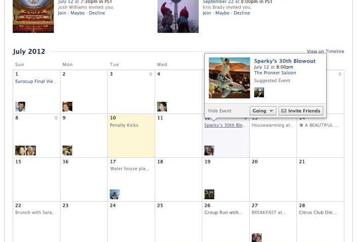 Calendario: la nuova modalità di visualizzazione degli Eventi di Facebook