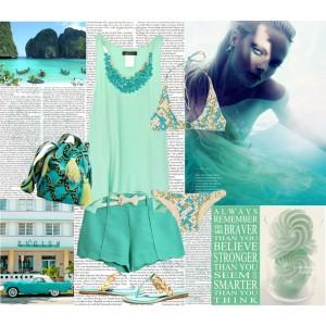 Dall 39 alta moda al low cost verde il colore must dell 39 estate 2012 t m - Accessori bagno verde ...