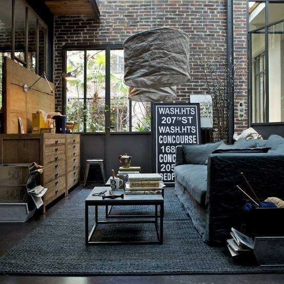 Industrial House Design And Decor For Stylish Appearance: Look Grezzo E Scatti D'autore Per La Casa Contemporanea