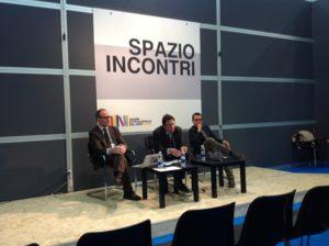 Alberto Oddenino nell'incontro su open access e società globale della conoscenza - SalTo13