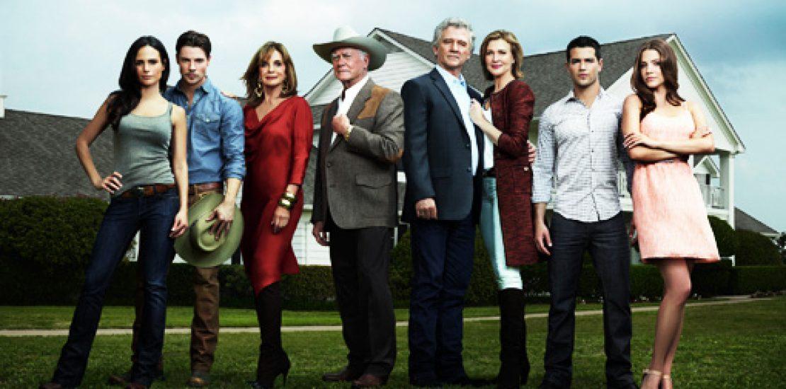 Il cast della sitcom Dallas